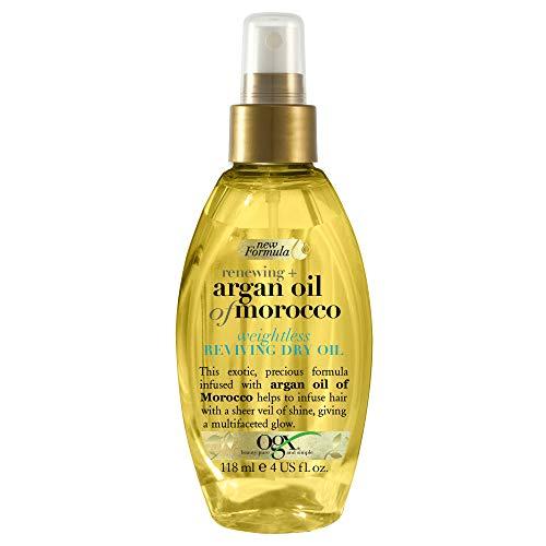 OGX, Aceite Revitalizante de Argán de Marruecos, Aceite Seco en Spray, 118 ml