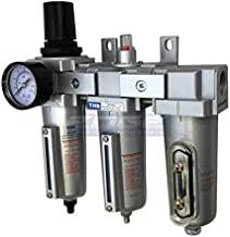 3 STAGE, HEAVY DUTY INDUSTRIAL GRADE FILTER REGULATOR COALESCING DESICCANT DRYER SYSTEM FOR COMPRESSED AIR LINES, METAL BOWLS, GREAT FOR PAINT SPRAY AND PLASMA CUTTER (1/2