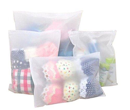 Busta organizer in plastica impermeabile per riporre oggetti nell'armadio e in valigia. Per vestiti, scarpe, prodotti per il make-up (confezione da 6 buste di diverse dimensioni)