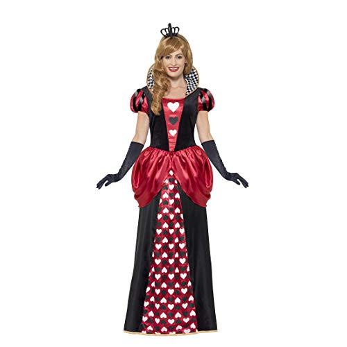 Amakando Zauberhaftes Märchen-Kostüm Herzkönigin / Schwarz-Rot XXL (50/52) / Herzblatt Outfit Queen of Hearts / EIN Blickfang zu Fasching & Kostümfest