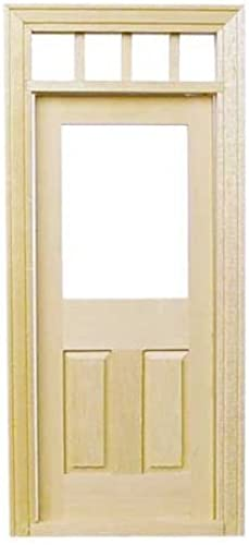 Dolls House Miniature 1 12 Scale Natural Wood Traditional Transom Fanlight Door by Houseworks, Ltd.