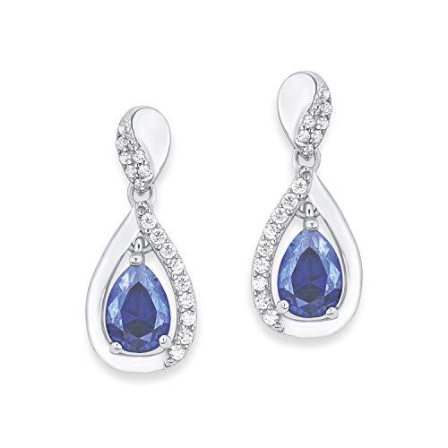amor Ohrring für Damen, Sterling Silber 925, Zirkonia