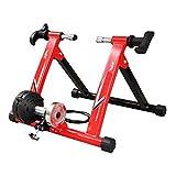 Rodillo Entrenamiento Bicicleta Acero Plataforma de entrenamiento de carretera de montaña con control de cable, Turbo Trainer, entrenador de bicicleta de interior de resistencia variable para biciclet