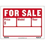 BAZIC 12' X 16' For Sale Sign for Car and Auto Sales (2-Line)