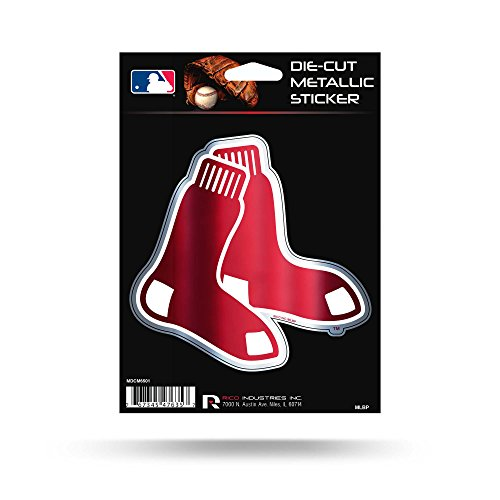 Rico Industries Red Sox Die Cut Metallic Sticker