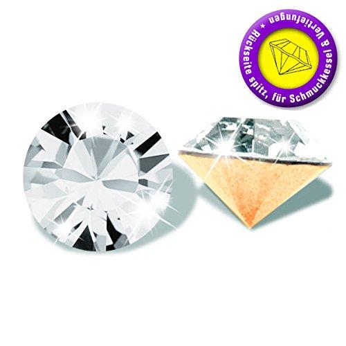 Swarovski 50 Stück Elements 1028 Chaton, Crystal, PP13 (Ø ca. 1,90-2,00 mm), Strasssteine zum Einkleben oder Fassen