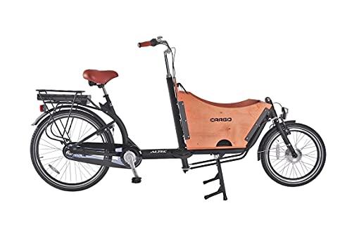 Hooptec Avior Bakfiets - Bicicleta eléctrica de 6 velocidades, Color Negro