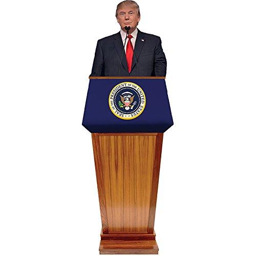 Wet Paint Printing + Design H25103 Donald Trump Podium Cardboard Cutout Standup
