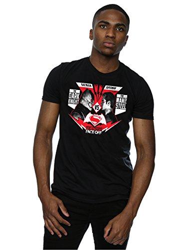 DC Comic Homme Batman v Superman Face Off T-Shirt XXX-Large Noir