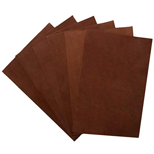 Hide & Drink, Rustic Durable Thick Leather Rectangles (4 x 6 in.) 6 Piece Set for Crafts, Tooling, Hobby Workshop, Gun Holster Apron, Notebook Covers, Heavy Weight (1.6-1.8mm) :: Swayze Suede