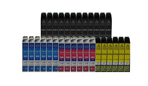 3color, cartucce di toner con chip, adatte per stampanti Epson Expression Home XP-102 XP-202 XP-205 XP-212 XP-215 XP-225 XP-30 XP-33 XP-302 XP-305 XP-312 XP-315 XP-322 XP 325 XP-402 XP-405 XP-405WH XP-412 XP-315 XP-422 XP-425 30x=12bk+6c+6y+6m