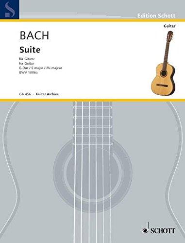 Suite für Laute E-Dur: BWV 1006a. Gitarre. (Edition Schott)