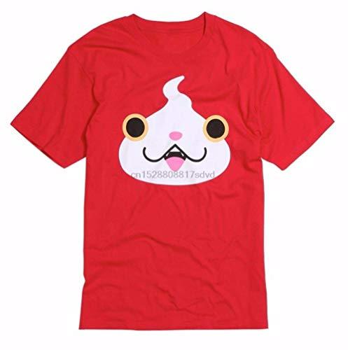 Biooarc Limited Anime Yo-Kai Yokai Watch Jibanyan Face Men T-Shirt