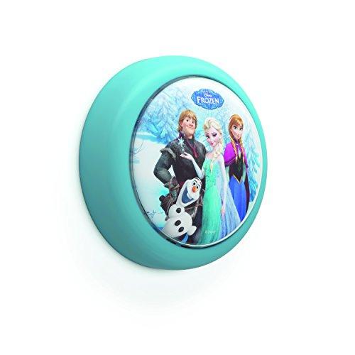 Philips 719240816 Disney An/Aus Nachtlicht Frozen, 5 lm, Plastik, 0,3 W, Integriert, blau, 11,05 x 11,05 x 3,6 cm