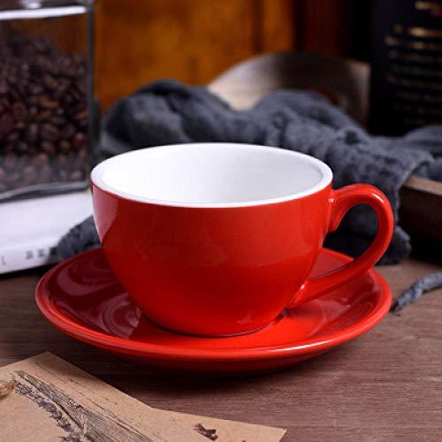 220 ml hoogwaardige keramische koffiekopjes koffiekoppen Eenvoudige Europese stijl mok cappuccino bloemkoppen van toepassing op espresso, koffie, thee, sap-M_220ml