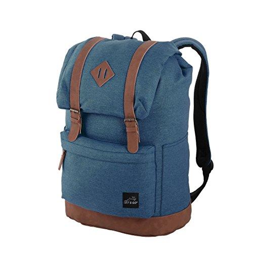 Let´s Go Freizeit Rucksack RS/15, Laptopfach bis 15,6 Zoll, robust und wasserabweisend, Daypack/Schulrucksack für Damen und Herren