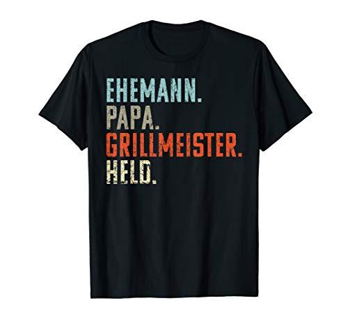 Herren Ehemann Papa Grillmeister Held | Vintage Geschenk Vatertags T-Shirt