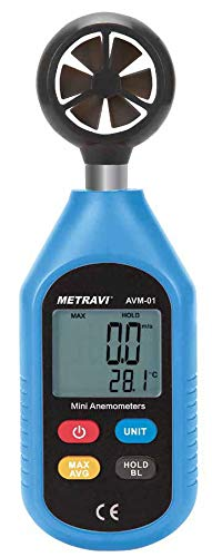 Metravi instruments AVM-01 Digital Mini Anemometer to Air Velocity up to 30m/Sec & Temperature