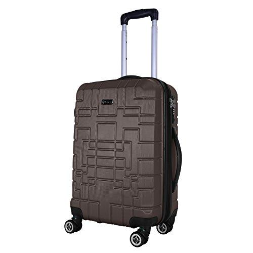 SHAIK® Serie XANO HKG Design Hartschalen Trolley, Koffer, Reisekoffer, in 3 Größen M/L/XL/Set 50/80/120 Liter, 4 Doppelrollen, TSA Schloss (Handgepäck M, Anthrazit)