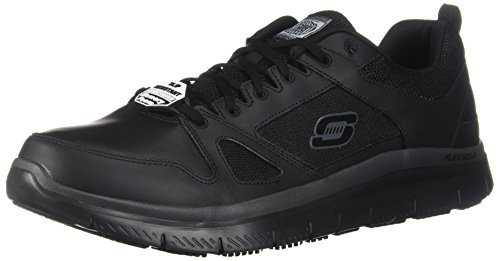 Skechers Men's Flex Advantage Sr Work Shoe, Black, 13 W US