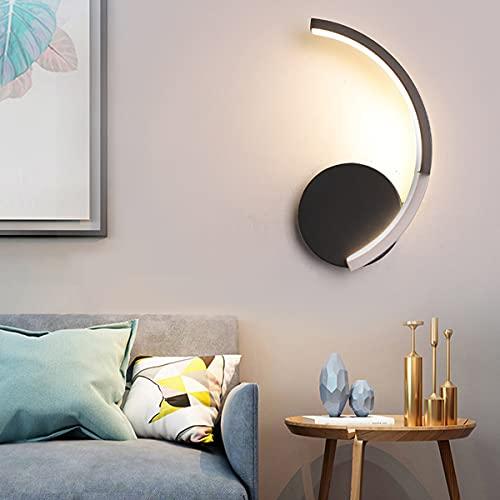 QEGY LED Arc Lámpara de Pared Interior, 8W Moderna Aplique de Pared Sala de Estar con Pantalla Acrílico, Creativo Metálica Luz de Pared para Dormitorio Habitación de Niños,White light