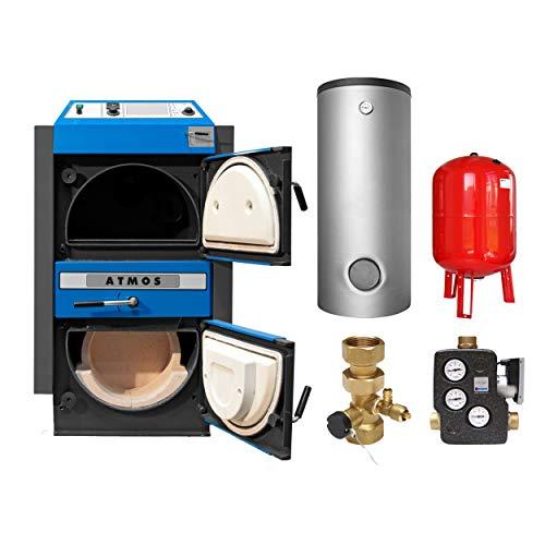 ATMOS KS3439 KC 35 S Kohlevergaserkessel - Komplett-Set mit Pufferspeicher 1000L und Hygienespeicher 900L + 1 SWT