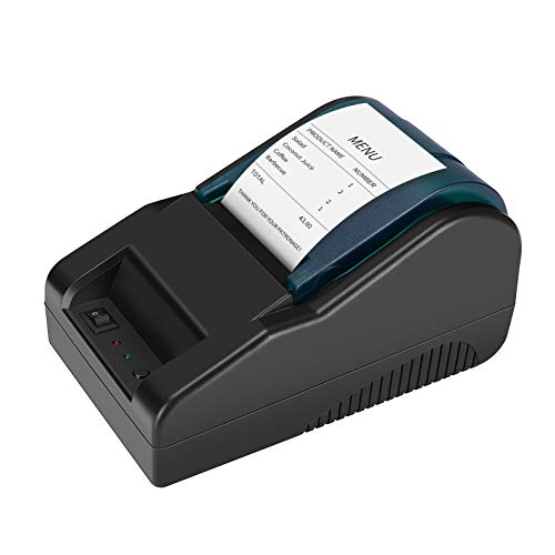 Aibecy Impresora térmica de recibos USB de escritorio de 58mm Billete de factura Impresión clara Impresora POS de alta velocidad Soporte Cajón de efectivo Compatible con comandos de impresión ESC/POS