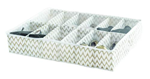 Compactor Home RAN7518 Housse pour Chaussures, polypropylène, Blanc/Beige, 76 x 60 x 15 cm