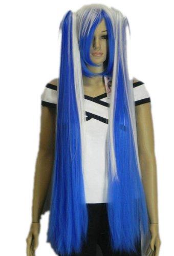 2 Clip On Ponytail Pour Cosplay VOCALOID-Hatsune Miku Mixte Bleu Anime ondulés perruque