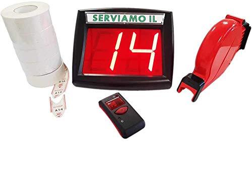 Kit Sistema Eliminacode Ferlabel VD3 Completo di Display + Radiocomando + Chiocciola + 10.000 scontrini ticket