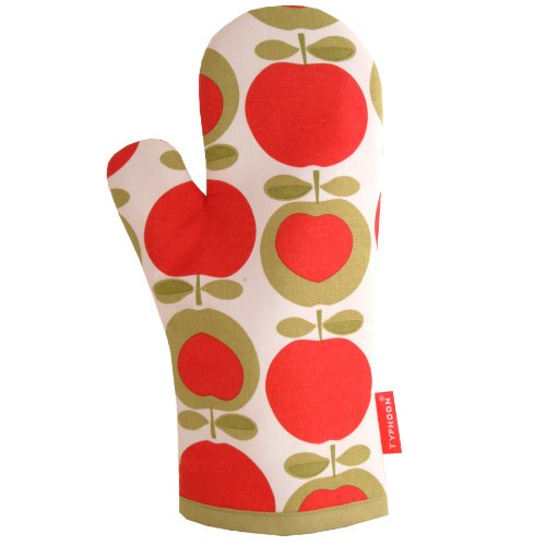 Typhoon Apple Heart Single Oven Glove, 13-7/8-Inch