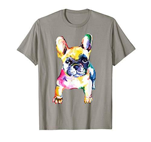 French Bulldog Original Watercolor Design T-Shirt