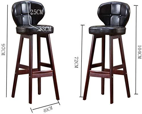 BAR Bar Stuhl, Wenzhihua Bar Stuhl Retro Massivholz Bar Stuhl Café Hocker Restaurant Hocker Rückenlehne Bar Stuhl Kassierer Bar Counter Stuhl Heimtextilien High Fashion Stuhl für Küche Barbershop,Sil