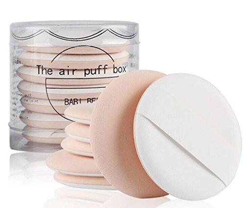 Lot de 7 éponges de maquillage à double usage avec boîte pour fond de teint liquide BB CC Crème Couleur peau