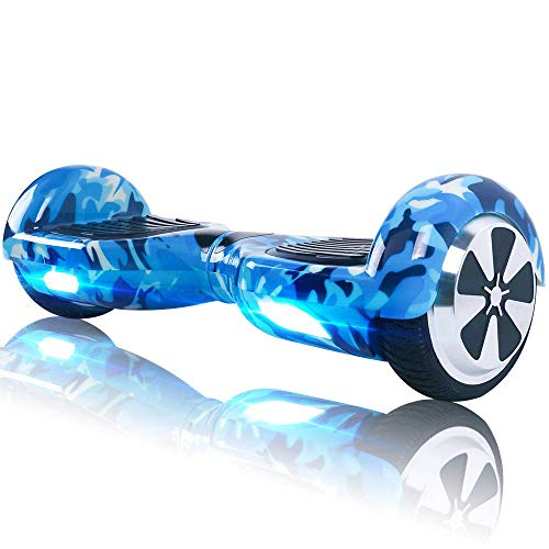 TOEU Hoverboard - Kids Super Gifts, 6.5 inch Self Balancing Electric Scooter, Off Road Adult Segway, Balance Board with LED Colorful Light
