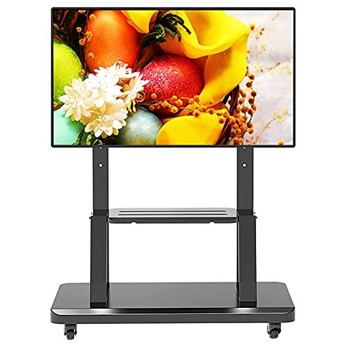 SSZY Soporte TV Trole Inicio Carrito de TV con Ruedas Soporte de TV para Televisores LCD LED de 32/40/45/50/55/60 Pulgadas, Empresa Aeropuerto Hospital Soporte Negro para TV Móvil con Ruedas