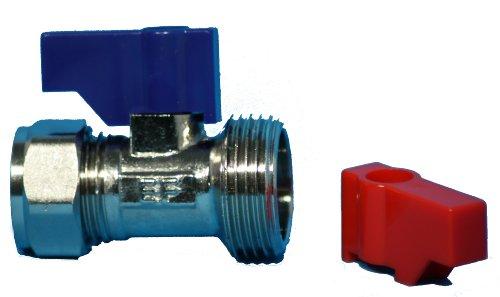 Plumb-Pak Connecteur droit pour robinet de machine à laver ou de lave-vaisselle 15 x 19 mm