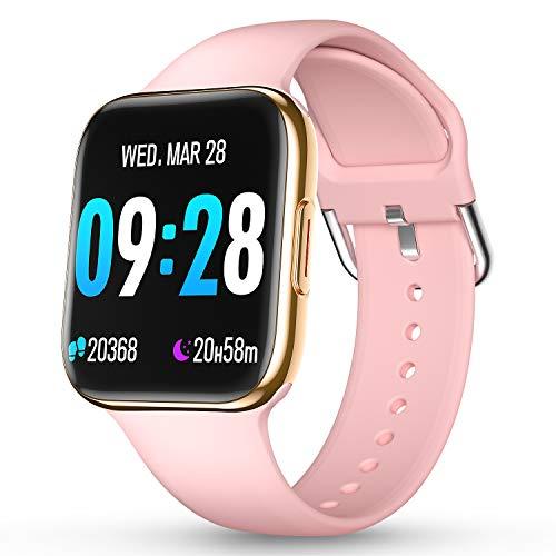 CatShin Smartwatch Orologio Fitness Uomo Donna IP69 Impermeabile Bluetooth Cardiofrequenzimetro da Polso Pedometro Smart Watch Touch Activity Tracker Contapassi per Android iOS