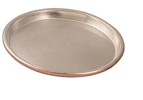Vigor Blinky 94080-40 Teglia Rame Stagnato, Tonda, Bordo da 3 cm, Diametro 40 cm