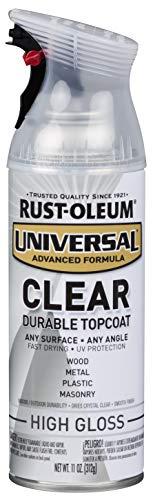Rust-Oleum 302110-6PK Universal Spray Paint, High Gloss Clear