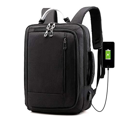 Zaino per computer portatile da 15,6 pollici, borsa per computer da viaggio con porta di ricarica USB,Borse per computer portatili scolastici resistenti all'acqua per donne e uomini