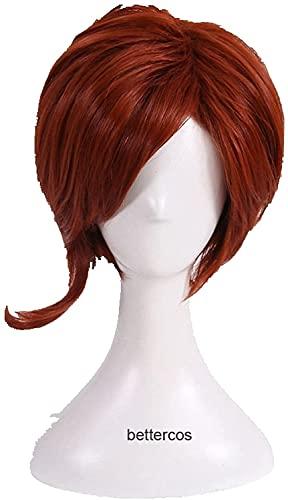 MixFactory Cos Wig Helen Parr Elastigirl Cosplay Peluca Corta Bob Peluca de Pelo sintético Resistente al Calor Coser Peluca