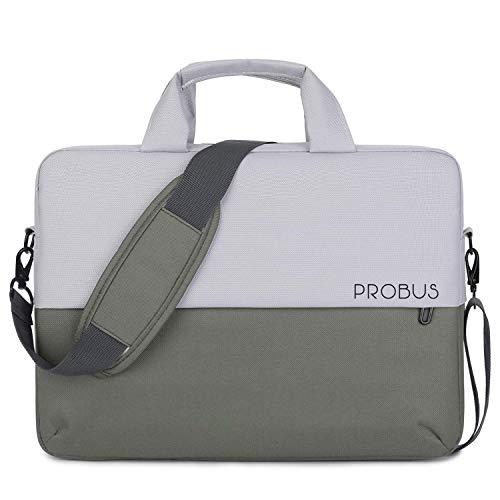Probus Dual Tone Laptop Slim Sleeve Bag for 13.3 Inch Laptop/MacBook/Chromebook - Olive Green