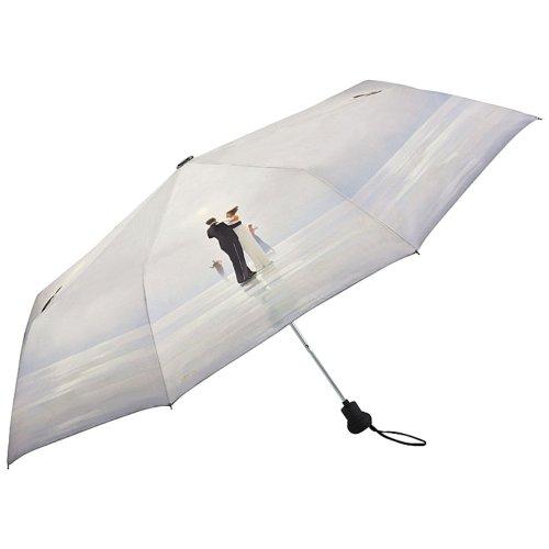 VON LILIENFELD Regenschirm Taschenschirm Stabil Leicht Auf-Automatik Damen Kunst Motiv Jack Vettriano: Tanz mit mir