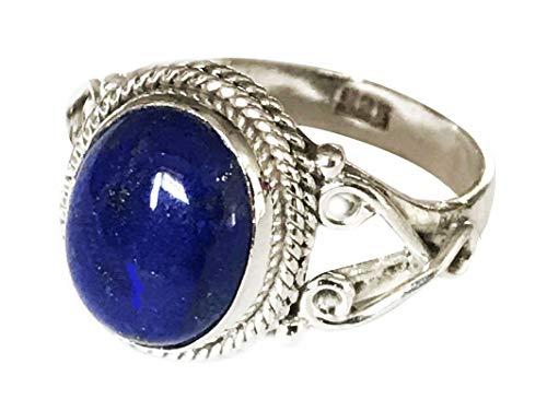 Shanya Ring im Folklore-Design Sterling-Silber 925 Lapislazuli