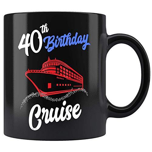 DKISEE Keramik-Kaffeetasse zum 40. Geburtstag, Kreuzfahrt-Urlaub, 325 ml