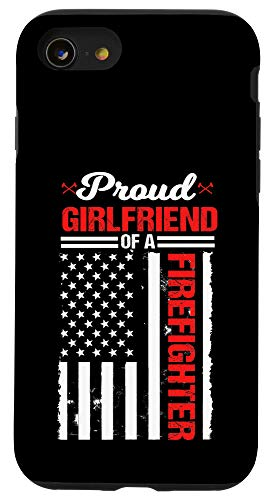 iPhone SE (2020) / 7 / 8 Proud Girlfriend Of A Firefighter Thin Red Line Fireman Gift Case