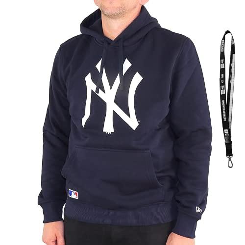 New Era Sudadera con capucha, diseño de la NFL MLB NBA New York Yankees Navy XL