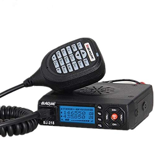 Easy-topbuy BJ-218 VHF/UHF Dual Banda Radio de Coche móvil Interphone del Coche Vehículo Transceptor con Programable por PC de Largo Alcance Pantalla LCD 200 Canales 136-174/400-470MHZ 25W