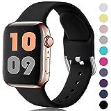 HUMENN Kompatibel mit Apple Watch Armband 38mm 40mm 42mm 44mm, Weiches Silikon Klassisch Sport...